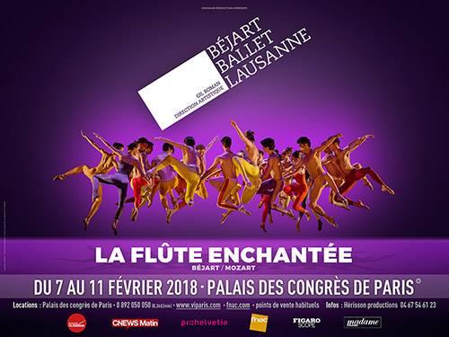 Béjart Ballet Lausanne, La Flûte Enchantée au Palais des Congrès