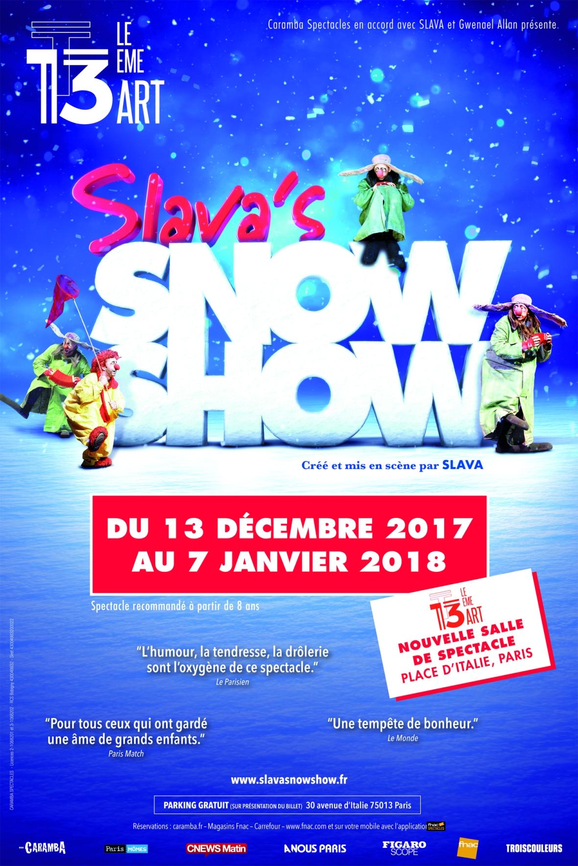 Slava's Snowshow au 13eme Art