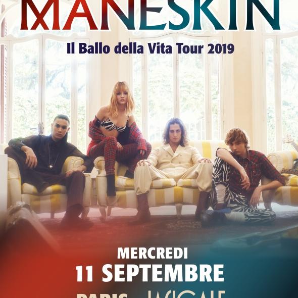 Måneskin en concert à la Cigale le 11 septembre