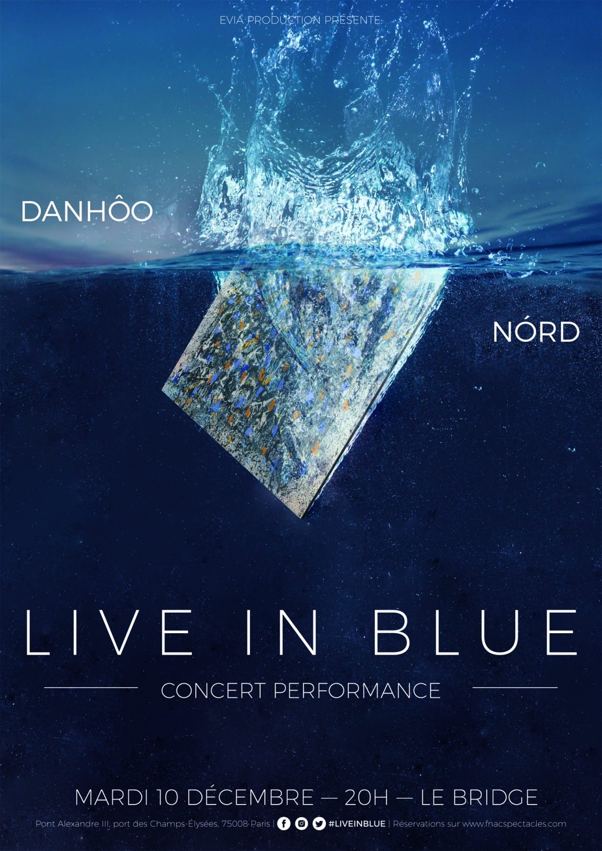 Live In Blue, concert performance avec NORD et DanHôo le 10/12 au Bride Paris