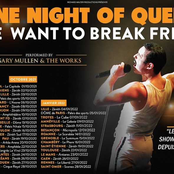 One Night of Queen, la tournée 2021 arrive en France